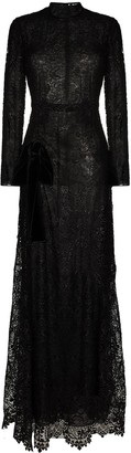 Tom Ford Floral-Lace Long-Sleeve Gown