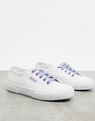 Superga 2750 trainers with contrast laces in white