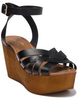 Seychelles High & Low Leather Wedge Sandal