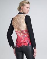 Peter Som Leopard & Flower-Print Jacket