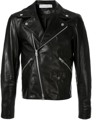 J.W.Anderson men's Gilbert & George leather biker jacket