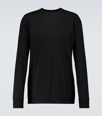 Rick Owens Level long-sleeved cotton T-shirt