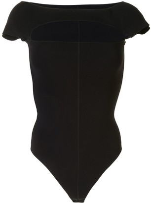KHAITE Chest Cut-Out Bodysuit