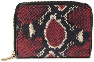 Persaman New York Firmina Snakeskin Embossed Leather Zip Around Wallet