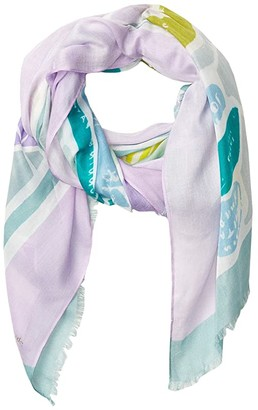 Kate Spade Central Park Map Oblong Scarf (Green) Scarves