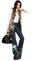 Alice + Olivia Ryley Embroidered Bell Jean