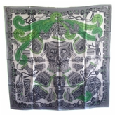 Hermes Grey Silk Silk handkerchief Carre