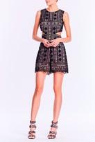 Nicole Miller Crochet Lace Cutout Romper