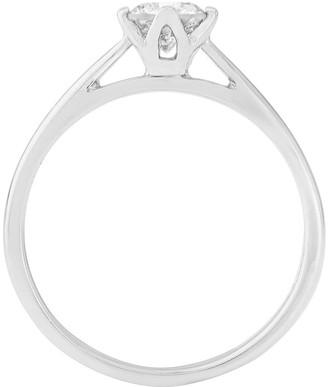 Love Diamond Platinum 50 point Diamond Solitaire Ring