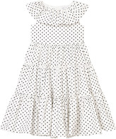 Dolce & Gabbana White and Black Spot Tiered Dress