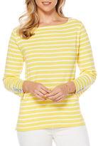 Rafaella Solid Striped Cotton Top