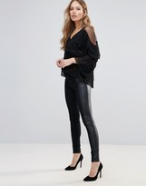 Only Freda Mix Faux Leather Leggings