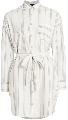 ATM Anthony Thomas Melillo Cotton Stripe Shirtdress