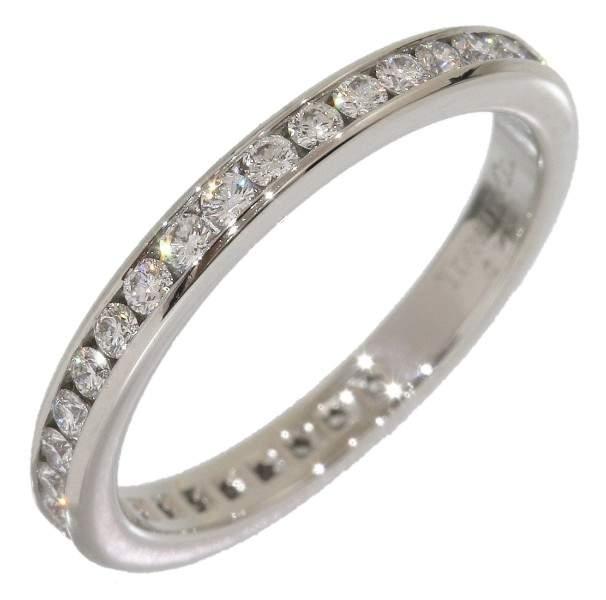 Tiffany & Co. 950 Platinum Full Eternity Diamonds Ring Size 4.5