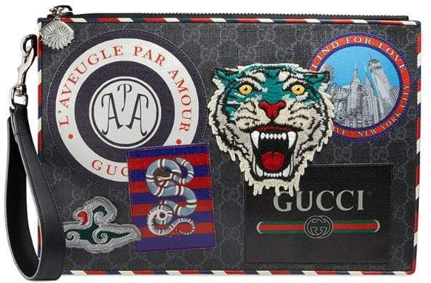 Gucci Night Courrier GG Supreme pouch