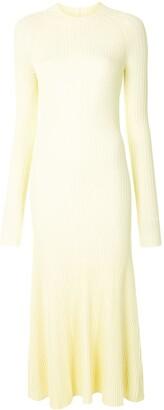 Dion Lee Long-Sleeve Flared Midi Dress