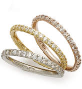 Giani Bernini Tri-Tone Rings Set, Set of 3 Cubic Zirconia Stackable Rings (2-1/5 ct. t.w.), Only At Macy's