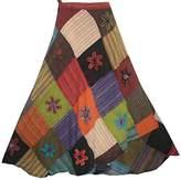 400 WS Agan Traders Hippie Gypsy Summer Long Wrap Patch Cotton Boho Renaissance Skirt