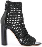Casadei macramé ankle boots