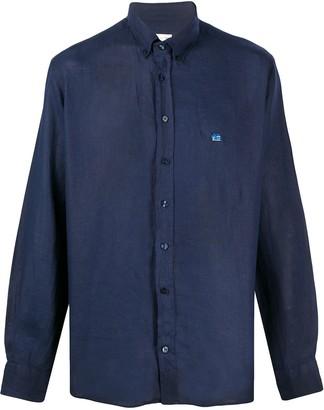Etro Linen Embroidered Logo Shirt