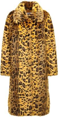 Stand Studio Maxine Leo Jacquard Faux Fur Coat