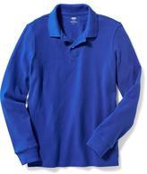 Old Navy Long-Sleeve Uniform Pique Polo for Boys