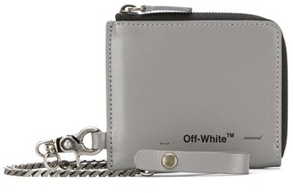 Off-White chain strap zip-up wallet