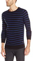 Scotch & Soda Men's Crew Neck Pullover In Rib Knit Structure
