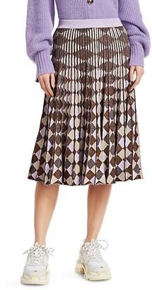 Baum und Pferdgarten Cryrilla Geometric Pleated Knit Skirt