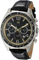 Tommy Hilfiger Men's 1790936 Sport Luxury Chronograph and Leather Strap Watch