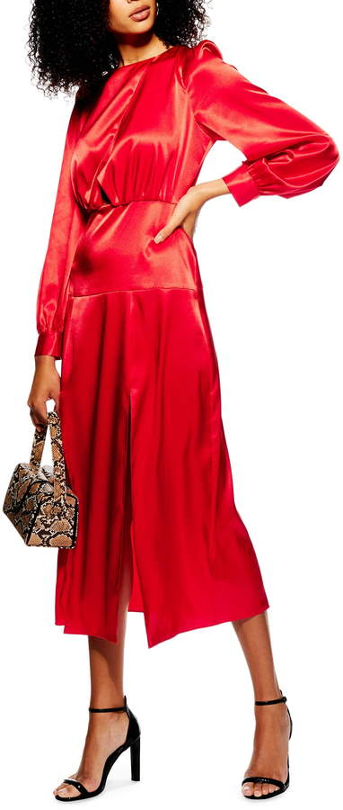 Topshop Cutout Midi Dress