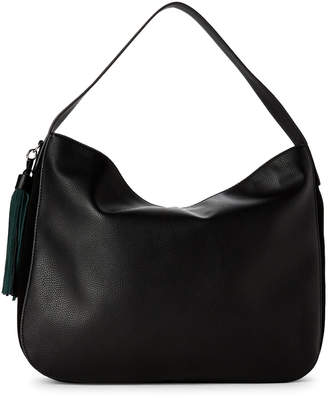 French Connection Black Linnet Suede Trim Hobo