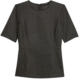 Theory Speckled Short-Sleeve Top