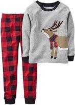 Carter's 2 Piece PJ Set (Baby) - Reindeer-18 Months