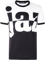 Dolce & Gabbana word print T-shirt - men - Cotton - 52