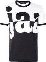 Dolce & Gabbana word print T-shirt