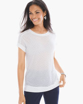 Chico's Solid Mesh Top