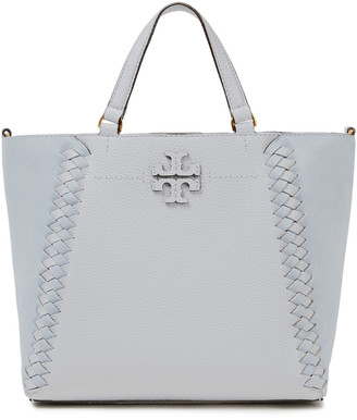 Tory Burch Mcgraw Suede And Textured-leather Tote