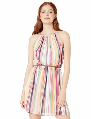Amy Byer A. Byer Womens Belted Casual Dress