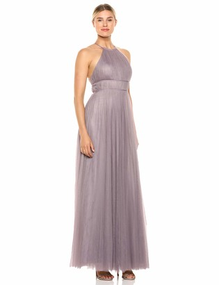 Jenny Yoo Women's Helena High Neckline Tulle Long Gown