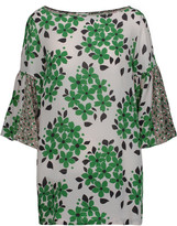 Suno Printed silk blouse