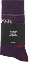 Vetements Logo lurex cotton-blend socks