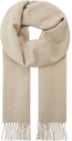 Johnstons Mens Beige Tassel Luxury Natural Cashmere Mongolian Scarf