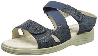 Padders Plus Women's Cruise Sling Back Sandals, Blue (Navy Reptile 25), 3 (36 EU)