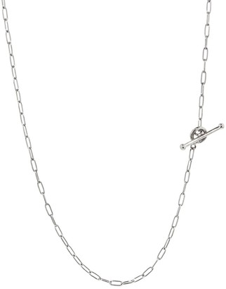Cathy Waterman 18 Inch Fine Spanish Chain Platinum Necklace