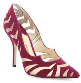 Paul Andrew Zenadia Cutout Suede & Mesh Point-Toe Pumps