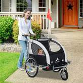 Eight24hours 3 in 1 Double Child Baby Bike Trailer Folding Kids Stroller Jogger Bicycle