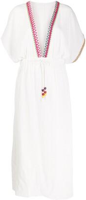 Mira Mikati Embroidered Beach Dress