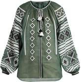 VITA KIN Croatia embroidered lightweight linen blouse