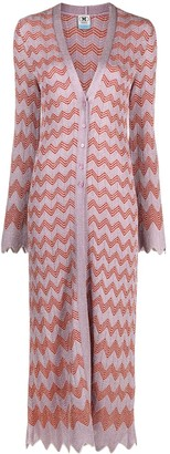 M Missoni Two-Tone Jacquard Wave Cardigan